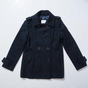 Delia's classic navy wool peacoat coat sz. XL